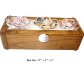 Wooden Box decorated w/ Sea Shells and Sand. 100 % Handmade