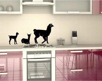 Alpaca family decal set