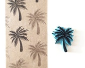 Palm tree, rubber stamp, hand carved, tropical decor