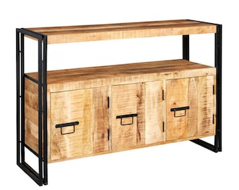 Bonsoni Baudouin Industrial Sideboard Made From Reclaimed Metal And Wood