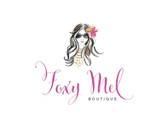 Girl Illustration Logo - Fashionista Logo -Prefect For Your Small Shop!