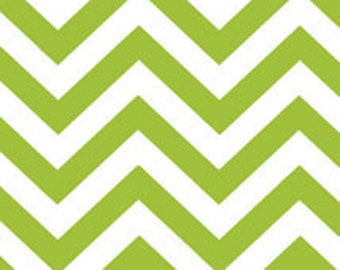 Half Moon Modern Zig Zag in Lime Green by Moda fabric by the yard 32216 19