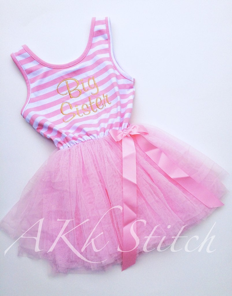 foto de Big Sister Pink Tutu Dress Pregnancy Announcement Baby