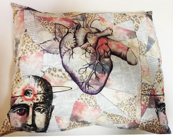 custom made collage pillow