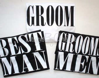 Groomsmen Shirts. Best Man shirt. Groom Shirt. Goomsmen Gift. Wedding.