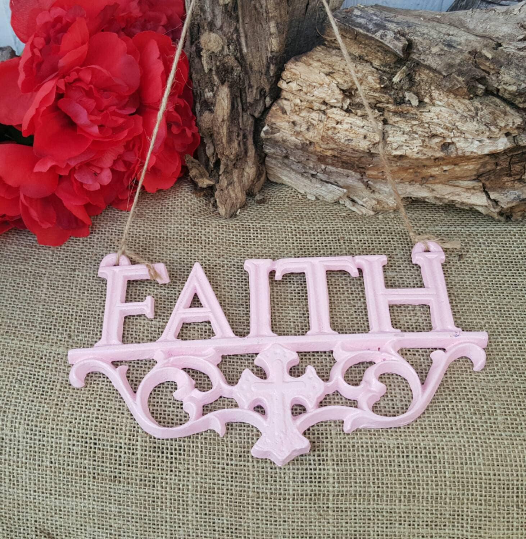 Wall decor faith decor rustic wall decor faith by themetalbarn for Faith decor