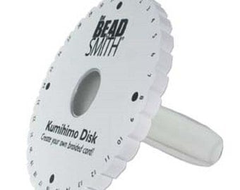 Kumi Handle, 6 inch Disk with attached CLEAR ergonomic handle.  Includes braiding instructions with projects.  Free ship!