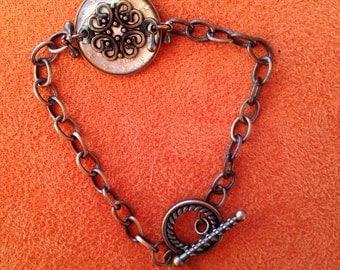 5 Cent Resin Euro coin bracelet