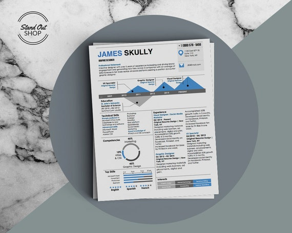James Skully Infographic Resume With Infographics And Matching