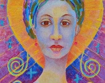 Erzulie Freda POSTER 12x16 Haitian voodoo priestess Vodou New orleans voodoo Haitian art Haitian painting