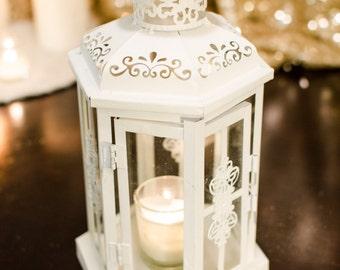 White Glass Lantern