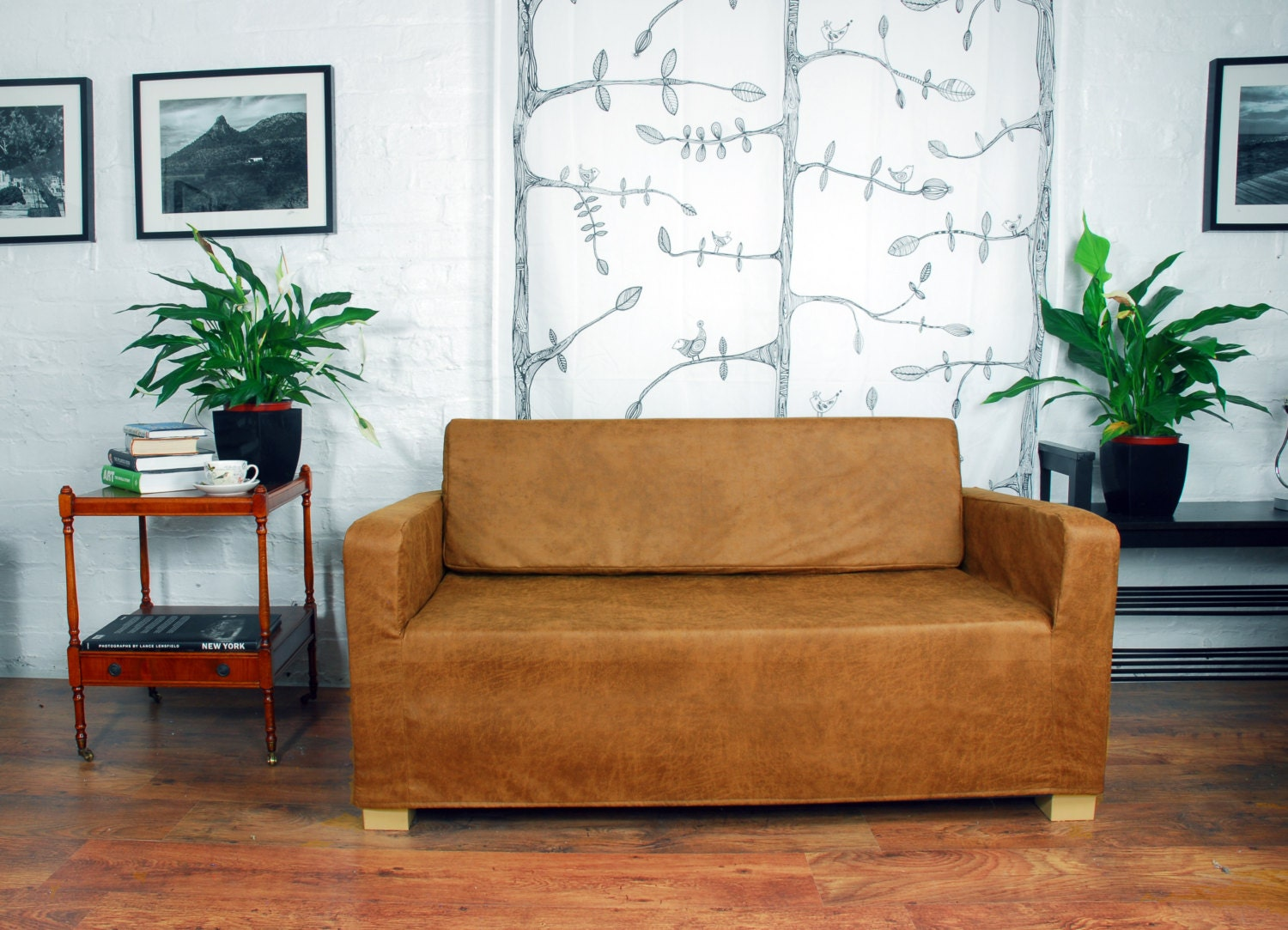 Slip Cover For The Ikea Klobo Sofa In Distressed Leather Look