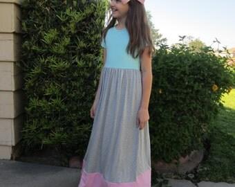 maxi dress 4th of july unicorn