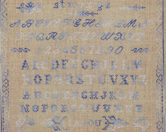 Vintage sampler Sajou archives number one to embroider in cross stitich