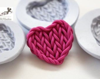 Silicone Mold-Heart Shirt Mold-Fimo-Dollhouse Miniatures-Polymer Clay Mold-Fimo Mold-Jewelry Molds-Silicone Molds-Polymer Clay-ST264