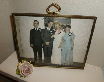 Vintage Color Tinted Wedding Photo From The 1950's