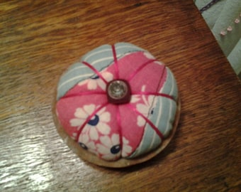 Pin cushion from old quilt block