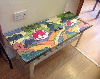 Clarice Cliff Coffee table with shelf.