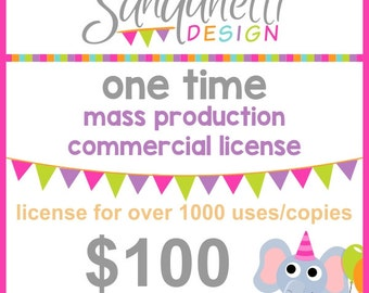 One Time Mass Production Commercial License for Sanqunetti Design Products