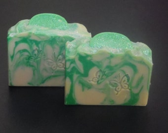 Coconut Lime Verbena Soap, Handmade Soap, Natural Soap, All Natural Soap, Citrus Soap, Cold Process Soap, Handmade Gift, Natural Handmade