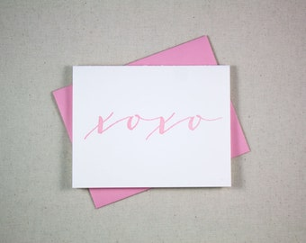 Love Letterpress Card - xoxo