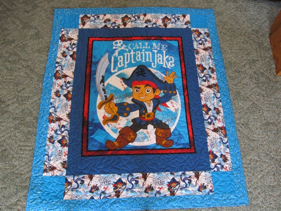 Jake the pirate quilt disney 39 s jake the pirate captain for Jake quilted bedding