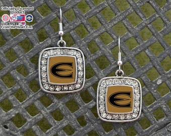 Emporia State Hornets Square Earrings