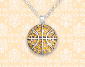 Gold Basketball Necklace - 48447