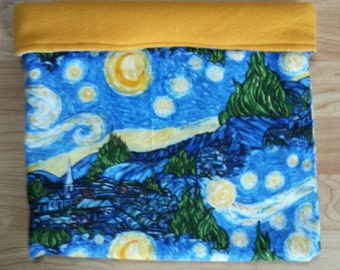 Limited Edition Starry Night cuddle Sack for Rat / Guinea Pig / Hedgehog or small animal
