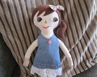 Anastazy Doll - organic fabric