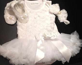 Baby girl baptism dress, Toddler,BabyGirl Tutu dress, Christening dress, pettiskirt, Wedding, Birthday dress, Tutu