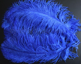 "One 18-20"" Royal Blue  Ostrich Drab Plume Feathers for Wedding decor Millinery S-4"