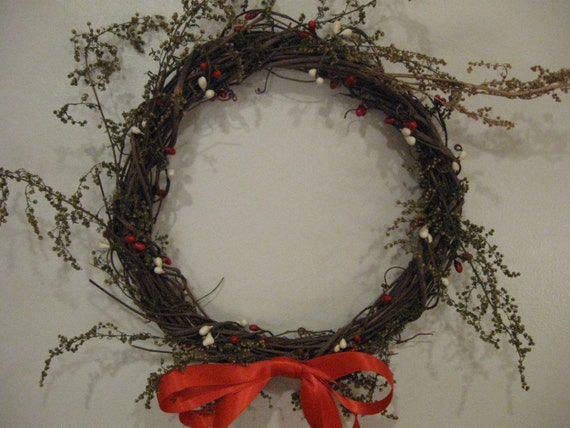 Primitive Christmas Wreath, FAAP, OFG, HAFair