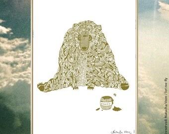 bear honey Eater