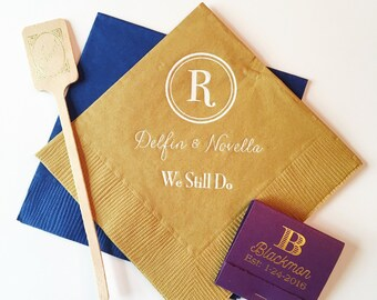 wedding napkins, reception napkins, party napkins, custom napkins, personalized napkins