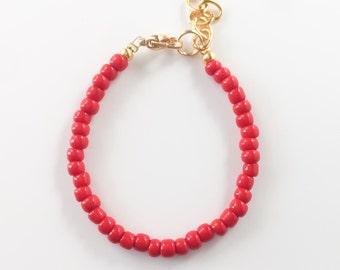 Scarlet Red Stacking Bracelet