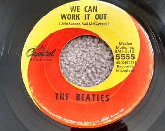 Vintage beatles 45 record