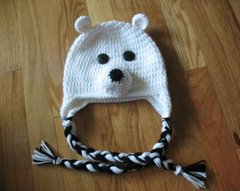 Crochet Polar Bear Hat