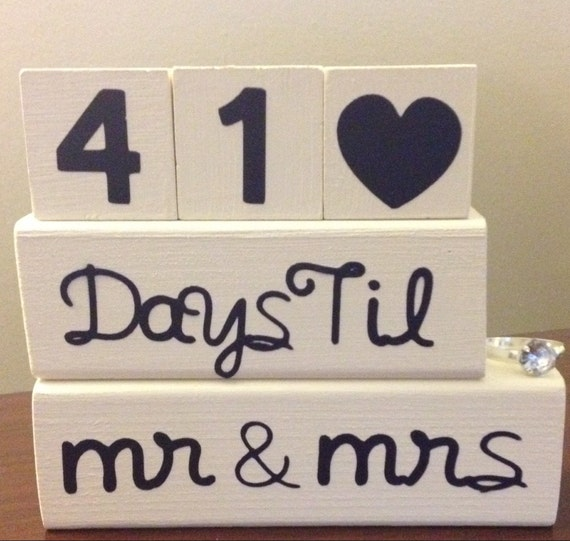 Wedding Countdown Gifts For Groom : ... Gifts Guest Books Portraits & Frames Wedding Favors All Gifts