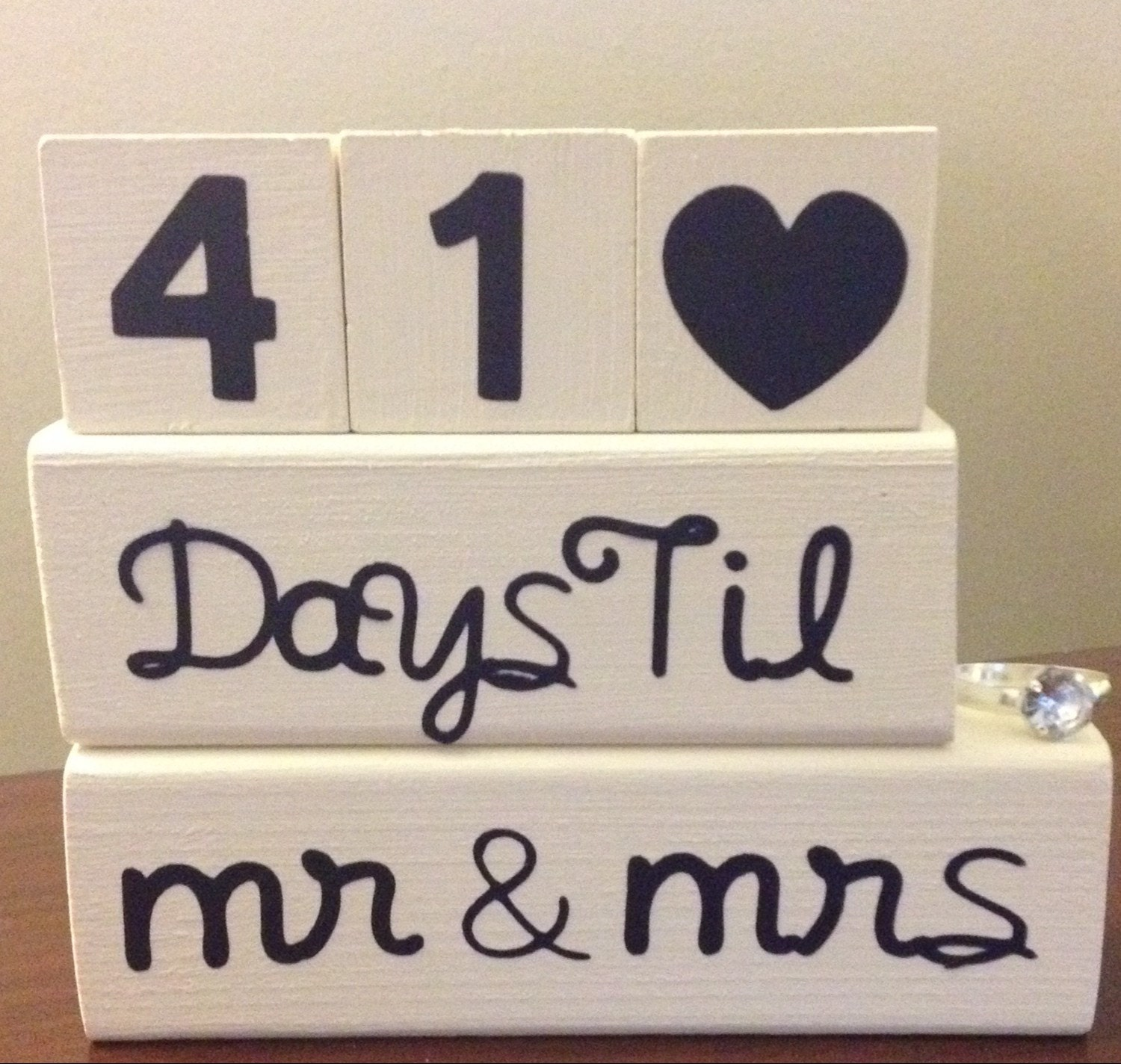 Wedding Countdown Gifts For Bride: Bride And Groom Wedding Countdown Blocks