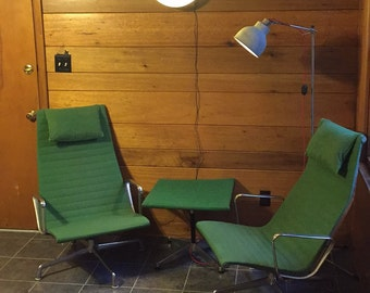 Eames Aluminum Group Lounge Chair - by Herman Miller (2 chairs and 1 ottoman)