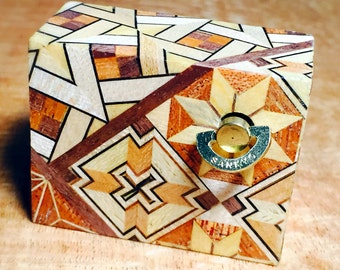 Japanese style Australian parquetry Mini music box
