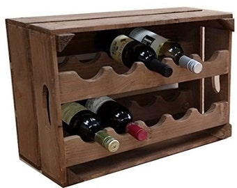 Apple crate wine rack, 10 Bottle