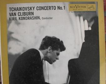 Van Cliburn, Tchaikovsky Concert No. 1, Vintage Record Album, Vinyl LP, Kiril Kondrashin Conductor, Classical Piano Music