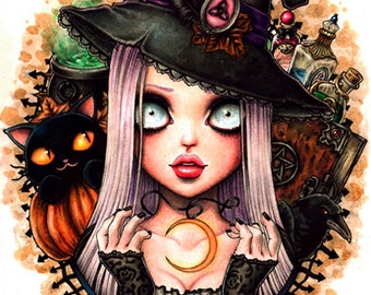 Sara- Fantasy Gothic Art- Print 6x8