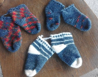 Handmade wool socks child (also made to order)