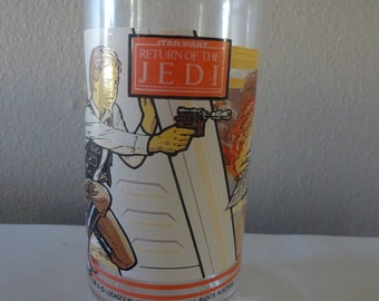 Vintage 1983 Star Wars Return of the Jedi Han Solo Drinking Glass Tumbler - FREE SHIPPING