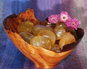 1 YELLOW FLUORITE Tumbled Stone - Yellow Fluorite Crystal, Yellow Fluorite Healing, Yellow Fluorite Gemstone, Tumbled Yellow Fluorite