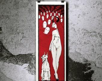 Femme Fatale - 2 Colors Handpulled Silkscreen Poster