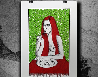 Enjoy your meal - 3 Colors Handpulled Silkscreen Poster